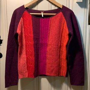 Free People color block sweater M